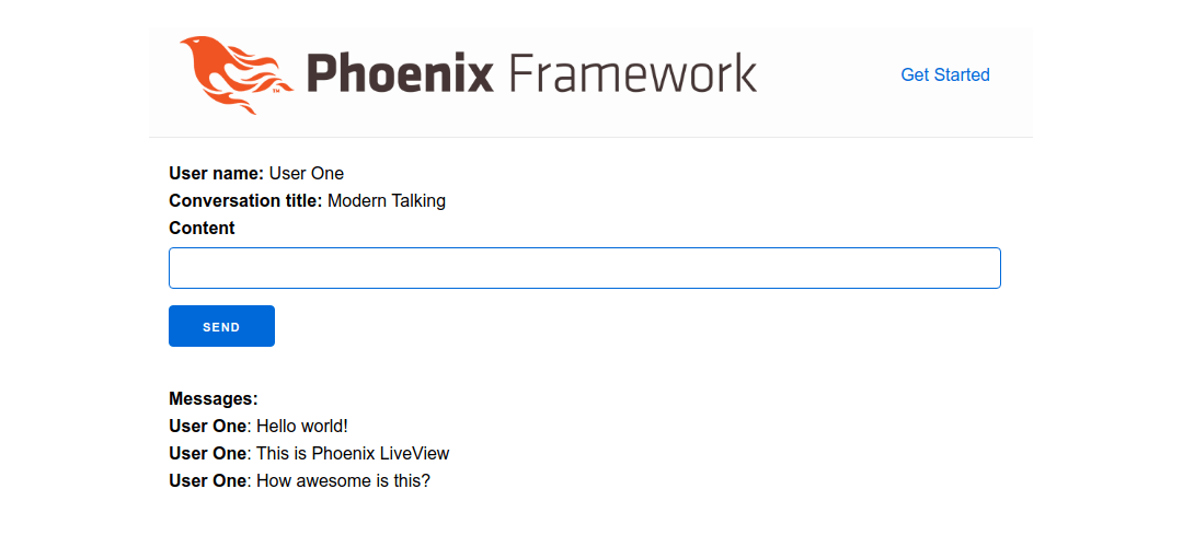Initial version of Phoenix LiveView-based Messenger app.