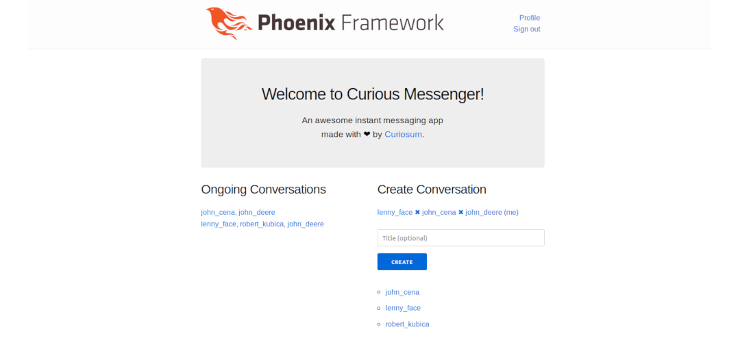 Phoenix LiveView Messenger App - Conversations and Contacts